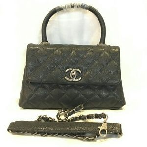 Chanel Leather Cross Body Bag with Handle
